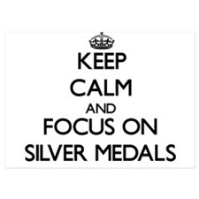 Keep Calm and focus on Silver Medals Invitations