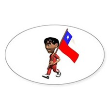 Chile Boy Oval Decal