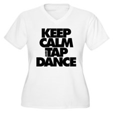 Keep Calm and Tap Dance (black) Plus Size T-Shirt