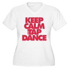 Keep Calm and Tap Dance (red) Plus Size T-Shirt