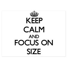 Keep Calm and focus on Size Invitations