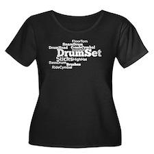 DrumSet Plus Size T-Shirt
