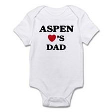Aspen loves dad Infant Bodysuit