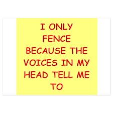 fencing Invitations