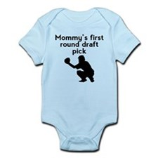 Mommys First Round Draft Pick Baseball Body Suit