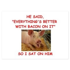 pig humor Invitations