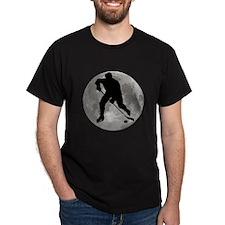 Hockey Player Moon T-Shirt