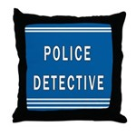 Police Detective Blues Throw Pillow