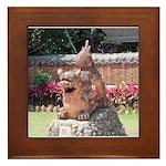 Ryukyu Shisa Framed Tile