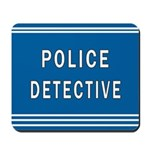 Police Detective Blues Mousepad