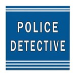 Police Detective Blues Tile Coaster