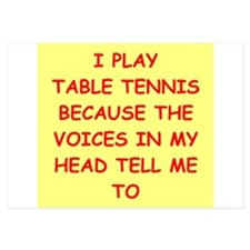 table tennis 3.5 x 5 Flat Cards