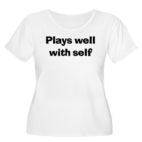 Plays Well With Self Women's + Size Scoop Neck T