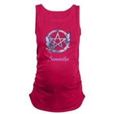 Personalized Pentacle Butterfly Maternity Tank Top