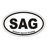 Students Against Grinding SAG Euro Oval Decal