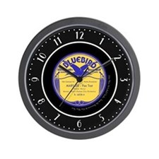 """Bluebird"" Bennie Moten 78 Label Wall Clock"