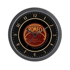 "Romeo ""Happy Days"" 78 Label Wall Clock"