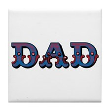 Vintage Circus Dad Father's Day Tile Coaster
