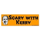 Scary With Kerry Halloween Bumper Car Sticker