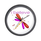Beautiful dragonflies Wall Clock