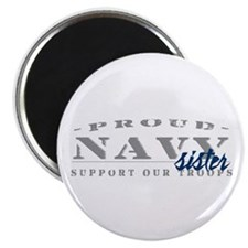 Proud Navy Sister (blue) Magnet