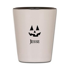 Jesse Halloween Pumpkin face Shot Glass