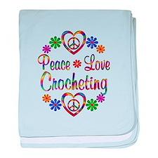 Peace Love Crocheting baby blanket