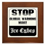 Stop Global Warming Framed Tile