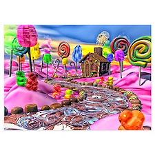Pink Candyland 5x7 Flat Cards