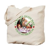 WE'RE ALL MAD - GREEN Tote Bag
