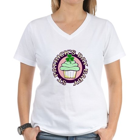 St. Patrick's Day Baby Women's V-Neck T-Shirt