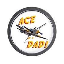 Ace of a Dad! Wall Clock
