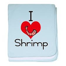 I love-heart shrimp baby blanket