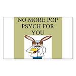 pop psych Sticker (Rectangle)