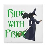 Ride with Pride Tile Coaster