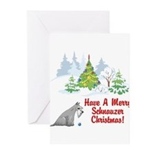 FIN-christmas-schnauzer Greeting Cards
