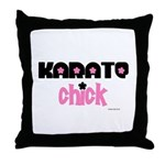 Karate Chick (Cotton Candy) Throw Pillow
