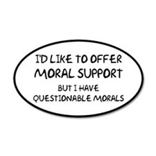 Questionable Moral Support Wall Decal
