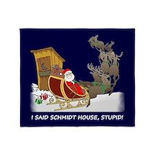 Schmidt House Funny Christmas Throw Blanket
