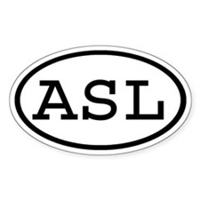 ASL Oval Oval Decal