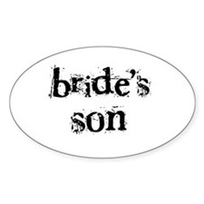 Bride's Son Oval Decal