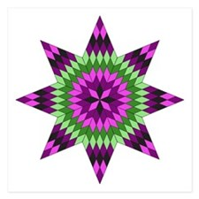 Native Purple Star Invitations