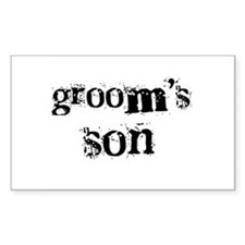 Groom's Son Rectangle Decal