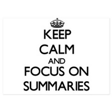 Keep Calm and focus on Summaries Invitations