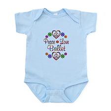 Peace Love Ballet Infant Bodysuit