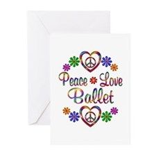 Peace Love Ballet Greeting Cards (Pk of 20)