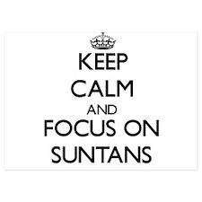 Keep Calm and focus on Suntans Invitations