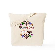 Peace Love Bingo Tote Bag