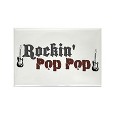Rockin Pop Pop Rectangle Magnet
