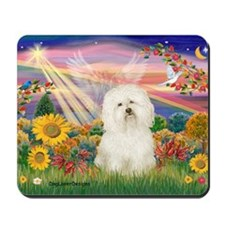 Bolognese Autumn Angel Mousepad